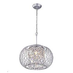 Mcmanis 3-Light Globe Chandelier Finish: Silver