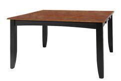 Wabasca Dining Table Finish: Black / Saddle Brown
