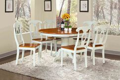 Valleyview 7 Piece Dining Set Finish: Oak/White