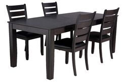 Charlotte 5 Piece Solid Wood Dining Set