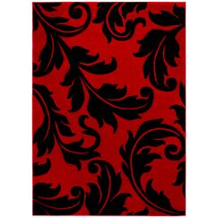 Red Area Rug Rug Size: Rectangle 7'9
