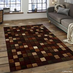 Red Area Rug Rug Size: 5'2