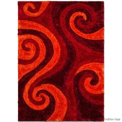 Hand-Tufted Red Area Rug Rug Size: 7'6