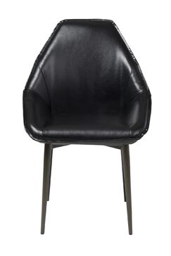 Whitacre Upholstered Dining Chair Upholstery Color: Black