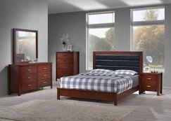 Vandergriff Panel 4 Piece Bedroom Set Bed Size: King, Color: Cherry