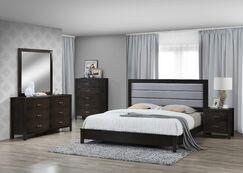 Vanderhoof Panel 5 Piece Bedroom Set Bed Size: California King, Color: Cappuccino/Dark Gray