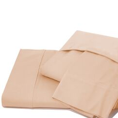 600 Thread Count 100% Cotton Jersey Deep Pocket Sheet Set Color: Pale Peach