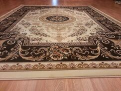 Ivory/Brown Area Rug Rug Size: Rectangle 10' x 13'