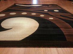 Hand-Carved Black/Brown Area Rug Rug Size: Runner 2'7