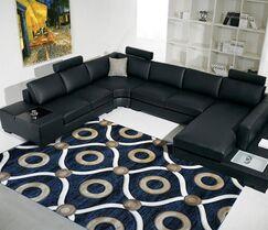 Blue Area Rug Rug Size: 4' x 6'