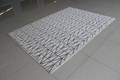 Ivory/Gray Area Rug Rug Size: 5'3