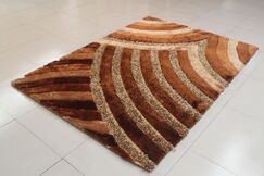Tosca Gold Area Rug Rug Size: 5'3