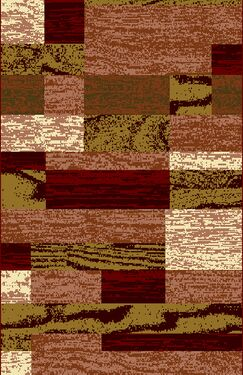 Truman Red Area Rug Rug Size: 7'11
