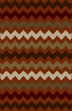 Kemo Taupe/Red Area Rug Rug Size: Runner 2' x 7'2
