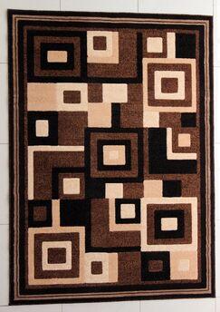 Fischer Brown Area Rug Rug Size: 4' x 6'