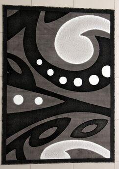 Skeen Dark Gray Area Rug Rug Size: 5'3