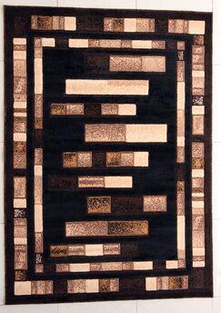 Finn Black Area Rug Rug Size: 4' x 6'