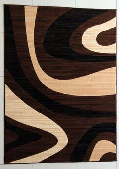Griffin Brown Area Rug Rug Size: 5'3