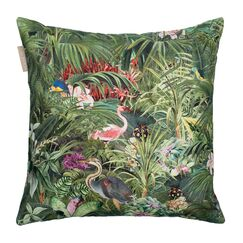 Tropical Cotton Pillow Cover