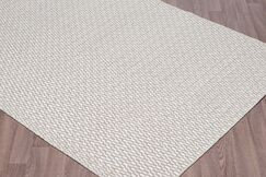 Linus Reversible Flatweave Hand Woven Wool Ivory/Silver Area Rug Rug Size: Rectangle 8' x 10'