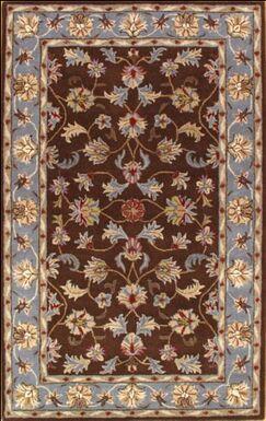 Modern Hand-Tufted Wool Brown Area Rug