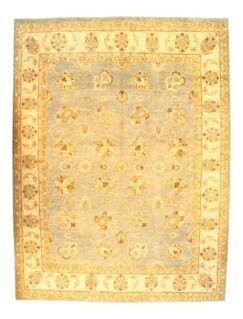 Pishawar Farahan Hand-Knotted Wool Light Brown Area Rug