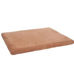 Edwin Foam Pet Pad with Zippered Cover Color: Clay, Size: Small (36
