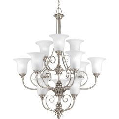 Terrie 12-Light Shaded Chandelier Color: Brushed Nickel