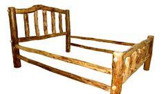 Rustic Arts® Platform Bed Color: Poly, Size: King