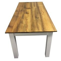 Solid Wood Dining Table Base Finish: White