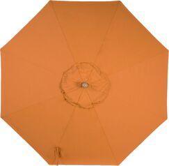 Centeno Double Pulley 9' Market Sunbrella Umbrella Frame Color: Silver Mirror, Fabric Color: Tuscan