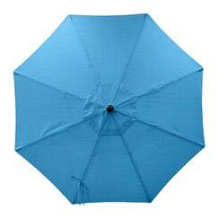 Centeno Double Pulley 9' Market Sunbrella Umbrella Fabric Color: Capri, Frame Color: Silver Mirror