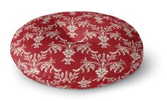 Christmas in Plaid Floor Pillow Size: 26