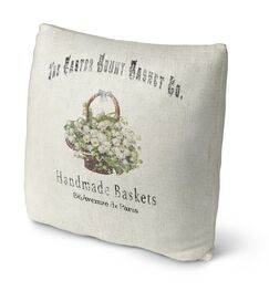 The Easter Bunny Basket Throw Pillow Size: 18