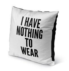 Deangelis Nothing Indoor/Outdoor Throw Pillow Size: 16