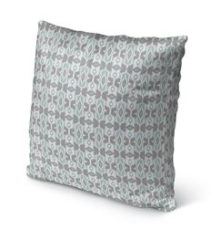 Cosmos Burlap Indoor/Outdoor Throw Pillow Color: Ivory/ Turquoise/ Grey, Size: 26