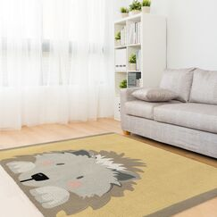 Junior Hedgehog Gray/Beige Area Rug Size: Rectangle 2' x 3'