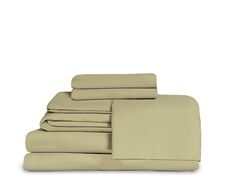 Microfiber Fitted Top Sheet Set Color: Sage Green, Size: Queen