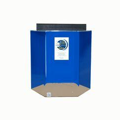 Hexagon Acrylic Aquarium Tank Color: Sapphire Blue, Size: 36