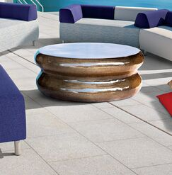 Perpetual Hero Stone/Concrete Coffee Table Finish: Taupe