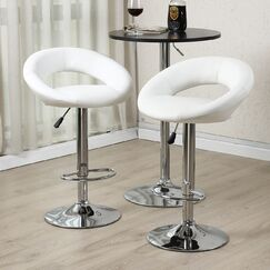 Wella 32'' Swivel Bar Stool Upholstery: White