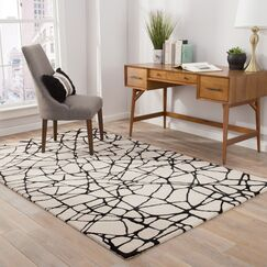 Keswick Hand-Tufted White Area Rug Rug Size: Rectangle 10' x 14'
