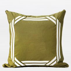Luxury Embroidered Textured Throw Pillow