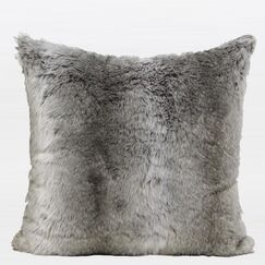 Luxury Gradient Faux Fur Throw Pillow