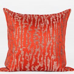 Nonobjective Pattern Jacquard Pillow Cover Color: Tangerine
