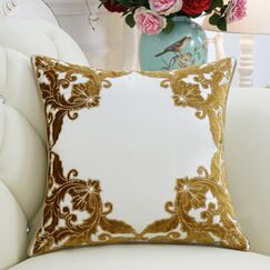 Luxury Detailed Floral Throw Pillow Color: Yellow