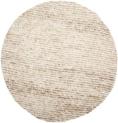 Matelles White/Beige Area Rug Rug Size: Round 7'