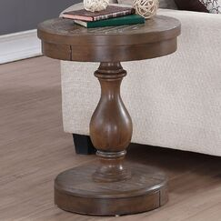 Fortunat End Table Color: Gray