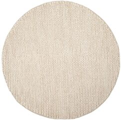 Pennsburg Fiber Hand-Woven Ivory Area Rug Rug Size: Round 6'