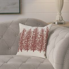 Amak Through the Woods Flower Print Throw Pillow Color: Brown, Size: 26